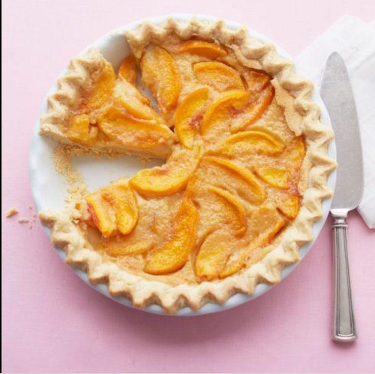 Peach Custard Pie