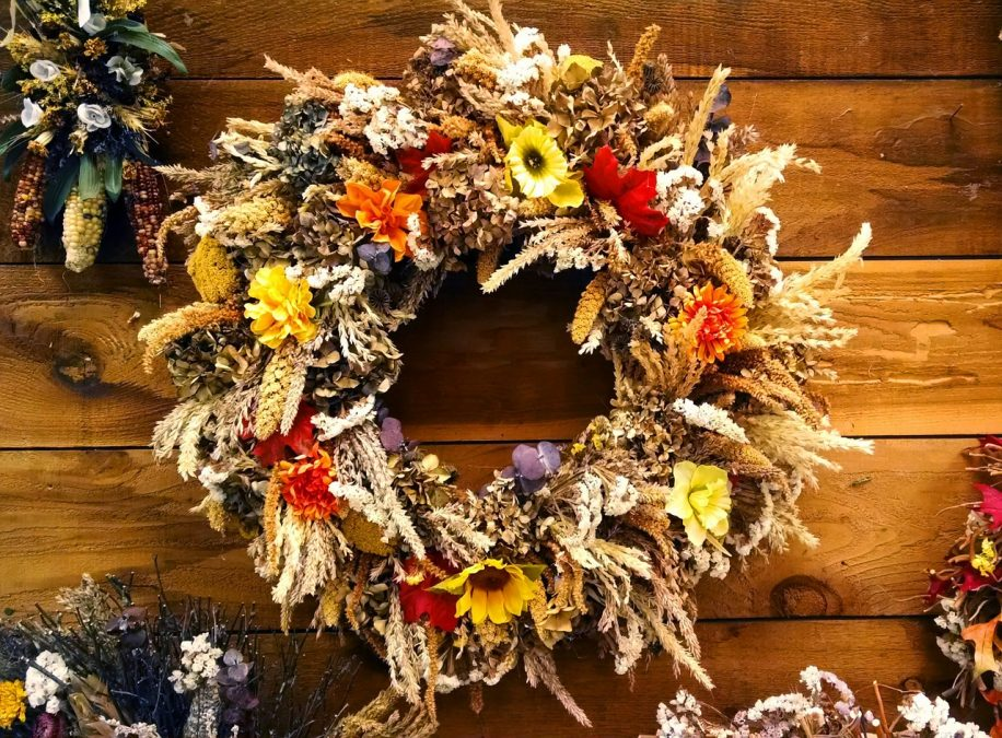 decoration, wreath, fall