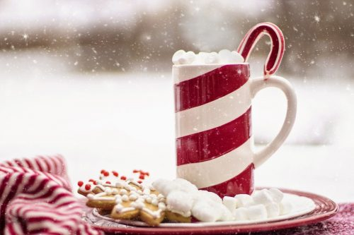 cocoa, hot chocolate, candy cane